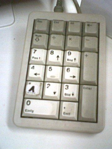 A video store PIN keypad